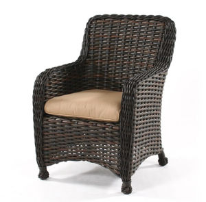Resin Wicker Garden Outdoor Side Stacking Dining Chair
