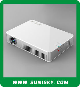 2016 New DLP Portable Projector with Android 4.2.2 WiFi 3D LED Projectors with HDMI (SMP7048) pictures & photos