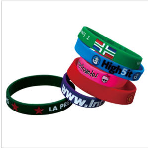 Cheap Price Customized Debossed Silicone Bracelet pictures & photos