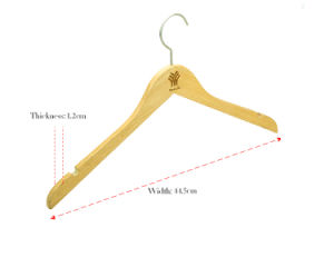 Wooden Hanger with Flat Hook for Suits/Natural Wooden Clothes Hanger pictures & photos