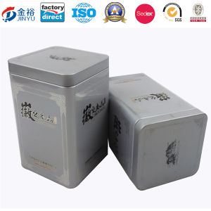 Square Shaped Airtight Lid Metal Tea Tin pictures & photos