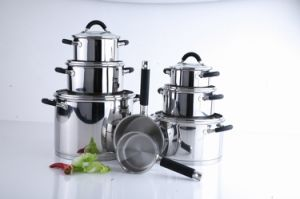 14PCS Stainless Steel Cookware Set with Silicone Handle (W1020 pictures & photos