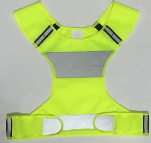 Reflective Cycling Vest, Made of 120GSM Knigtting Fabric pictures & photos