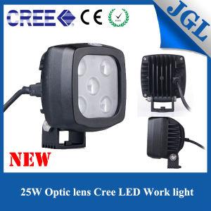 25W Square White Spot Beam LED Work Light for Truck/UTV/ATV/Tractor/Forklift pictures & photos