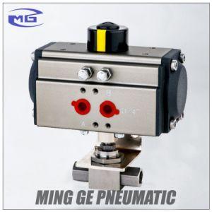 "OEM Stainless Steel Pneumatic Trunnion Ball Valve with Actuator (MG-QDQF-B-NPT1/4""~NPT2"")"