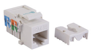 CE, RoHS Certificated UTP Cat5e Keystone Jack pictures & photos