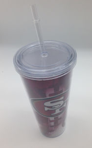Promotional Plastic Drinking Mugs with Straw Lid (CPBZ-4009) pictures & photos