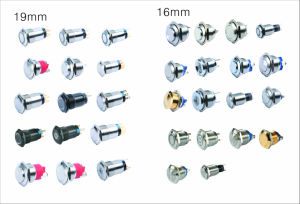DOT LED Stainless Steel Push Button Switch (LAS3-16H-11D) pictures & photos