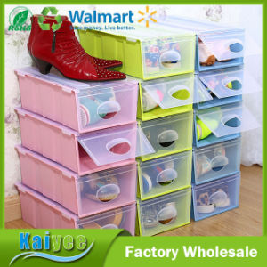 Multicolor Plastic Shoe Organizer & Storage Box with Lid pictures & photos