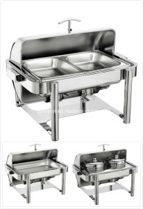 Full Size Hydraulic Roll-Top Chafing Dish Set with Tubular Legs (28217B/28117B/28288B) pictures & photos