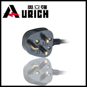 UK Power Cord with BS Certified Assembled Plug, Power Adapter Input Leads pictures & photos