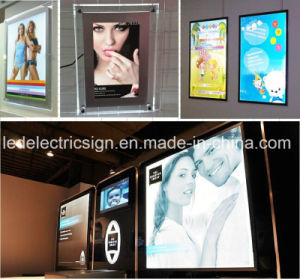 LED Advertising Magic Mirror Light Box pictures & photos