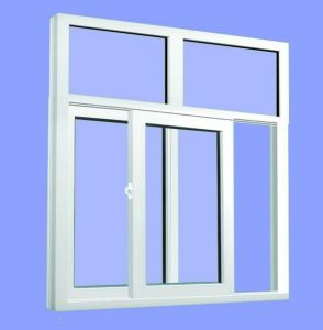 PVC Sliding Window Casement Single Double Tempered Glass Window pictures & photos