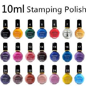 Nail Art 10ml 21 Kinds Hot Colors Stamping Polish DIY 2016 Hot Selling