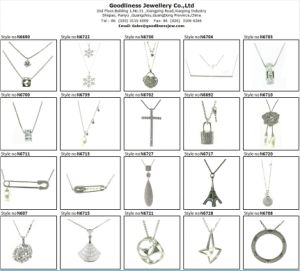 High Quality and Fashion Woman′s Jewelry 925 Silver Necklace (N6813) pictures & photos
