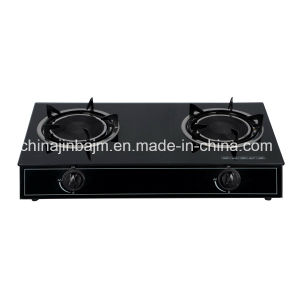 2 Burners Tempered Glass Top Infrared 165 Gas Cooker/Gas Stove pictures & photos