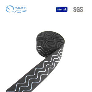 China Top Ten Selling High Elastic Custom Black Elastic Tape Silicon pictures & photos