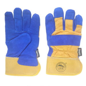 Full Palm Leather Working Gloves with Thinsulate Full Lining pictures & photos