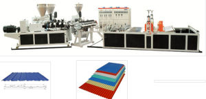 PVC Wave Tile Extrusion Production Line, Thickness0.8-3mm pictures & photos