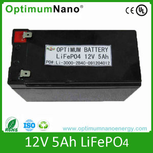 Rechargeable 12V 5ah LiFePO4 Battery for Flashlight pictures & photos