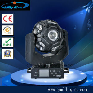 12*20W RGBW 4in1 Football LED Moving Head Wash DJ Rotating Super Effect Light pictures & photos
