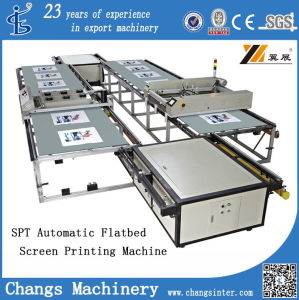 Spt4060 Automatic Flatbed Sheet/Roll/Garments/Clothes/Shirt/T-Shirt/Wood/Glass/Non-Woven/Ceramic/Jean/Leather/Shoes/Plastic Screen Printer/Printing Equipment pictures & photos
