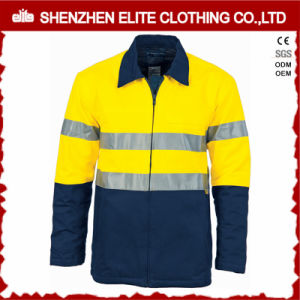 ANSI Yellow Blue 3m Reflective Safety Jacket Oil and Gas pictures & photos