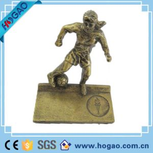 Polyresin Soccer and Boxing Sportsman Figurine Statue pictures & photos