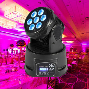 Cheap 7X10W Quad Mini Moving Head Wash Effect Lights pictures & photos