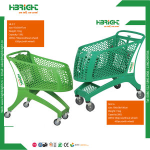 Supermarket All Full Plastic Shopping Trolley pictures & photos