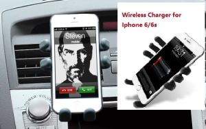 Qi Car Mount Wireless Charger Holder for iPhone 6/6s Plus pictures & photos
