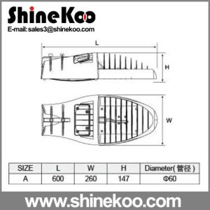 60W Small Shark Fin Die-Casting LED Streetlight Housing pictures & photos