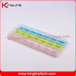 Plastic Pill Box with 21-Cases (KL-92101F) pictures & photos