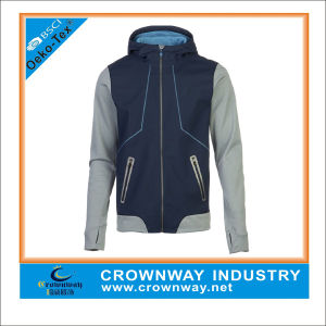 Best Hooded Varsity Sofeshell Jacket for Men pictures & photos