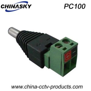 5.5X2.1mm CCTV Male DC Connector with Screw Terminal (PC100) pictures & photos