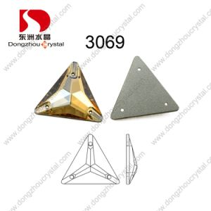 Artificial Triangle Sew on Stone Crystal Accessories for Garment pictures & photos