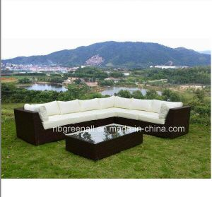 Aluminum Frame Sectional Sofa Garden Rattan Outdoor Furniture pictures & photos