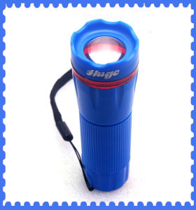 Blue Mini LED Torch with 3 AAA Size Battery for Outdoor, Camping, pictures & photos