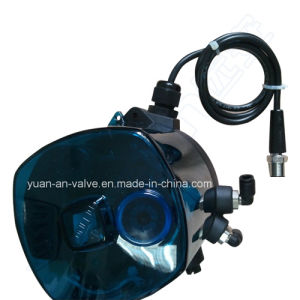 Sanitary Stainless Steel Pneumatic Butt Weld Sanitary Butterfly Valve pictures & photos