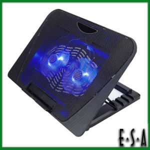2015 Hot Sale Unique Cooling Pad, Height Adjustable Portable Laptop Desk Cooler, Double Fans Adjustable USB Laptop Cooler G22A124 pictures & photos