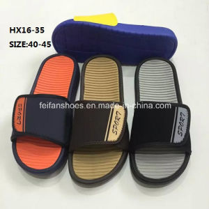 Men′s Summer Beach Slip-on Slipper Non-Slip Slipper Simple Slipper Sandal (HX16-35) pictures & photos