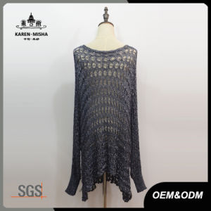 Lady Fashion Long Oversized Sweater Dress pictures & photos