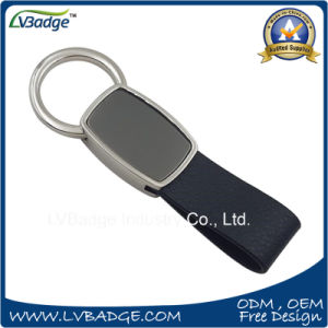 Promotion Gift Metal Keychain Leather Keychain with Custom Logo pictures & photos