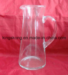 1.3L Drinking Clear Glass Hot and Cold Water Glass Jug pictures & photos