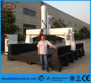 4 Axis CNC Router with Tilting Head for Car Ship Mould Carving pictures & photos