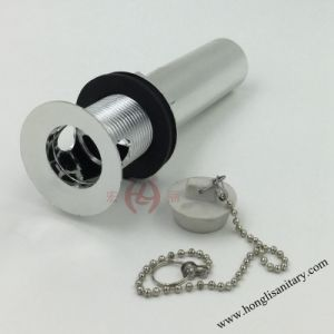 Chrome Plated Plastic Sink Drainer with Overflow and Stopper pictures & photos