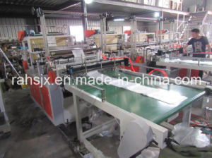 PE Shopping Bag Making Machine with Auto Conveyor Belt System pictures & photos