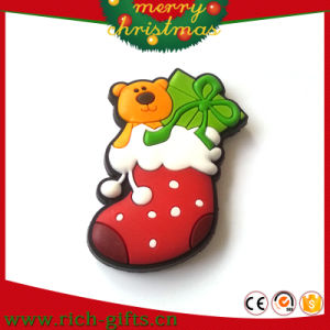 Promotion Gifts PVC Soft Rubber Christmas Socks Fridge Magnets (RC-CR023)