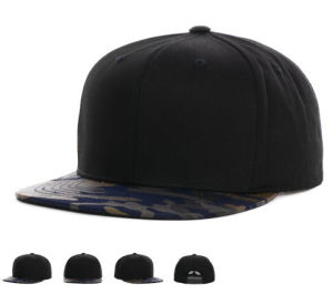 Flat Coconut Tree Embroidery Snapback Cap with Sublimation Print Design pictures & photos