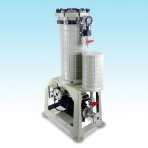 High Quality High Efficiency Plating Filter Equipment for Metal Plating Industry with Flange UPVC in/Outlet Hgf-2008-2
